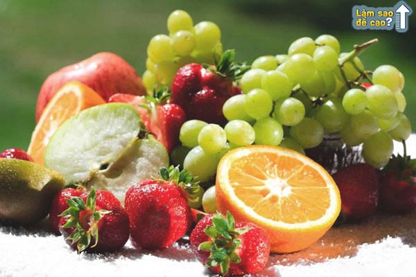 Bổ sung trái cây thường xuyên giúp cải thiện chiều cao